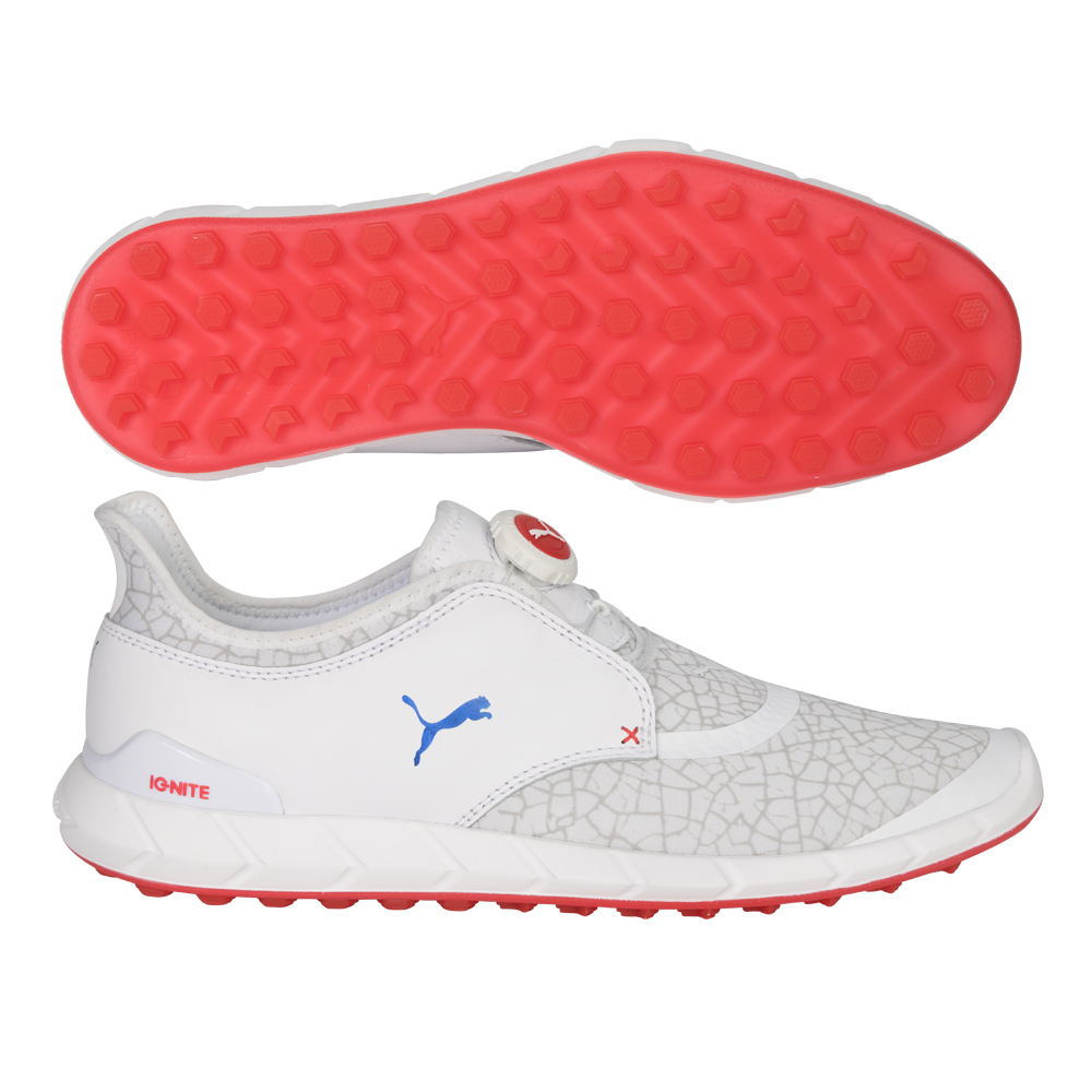 puma shoes pink and white. ignite disc extreme golf shoes puma pink and white