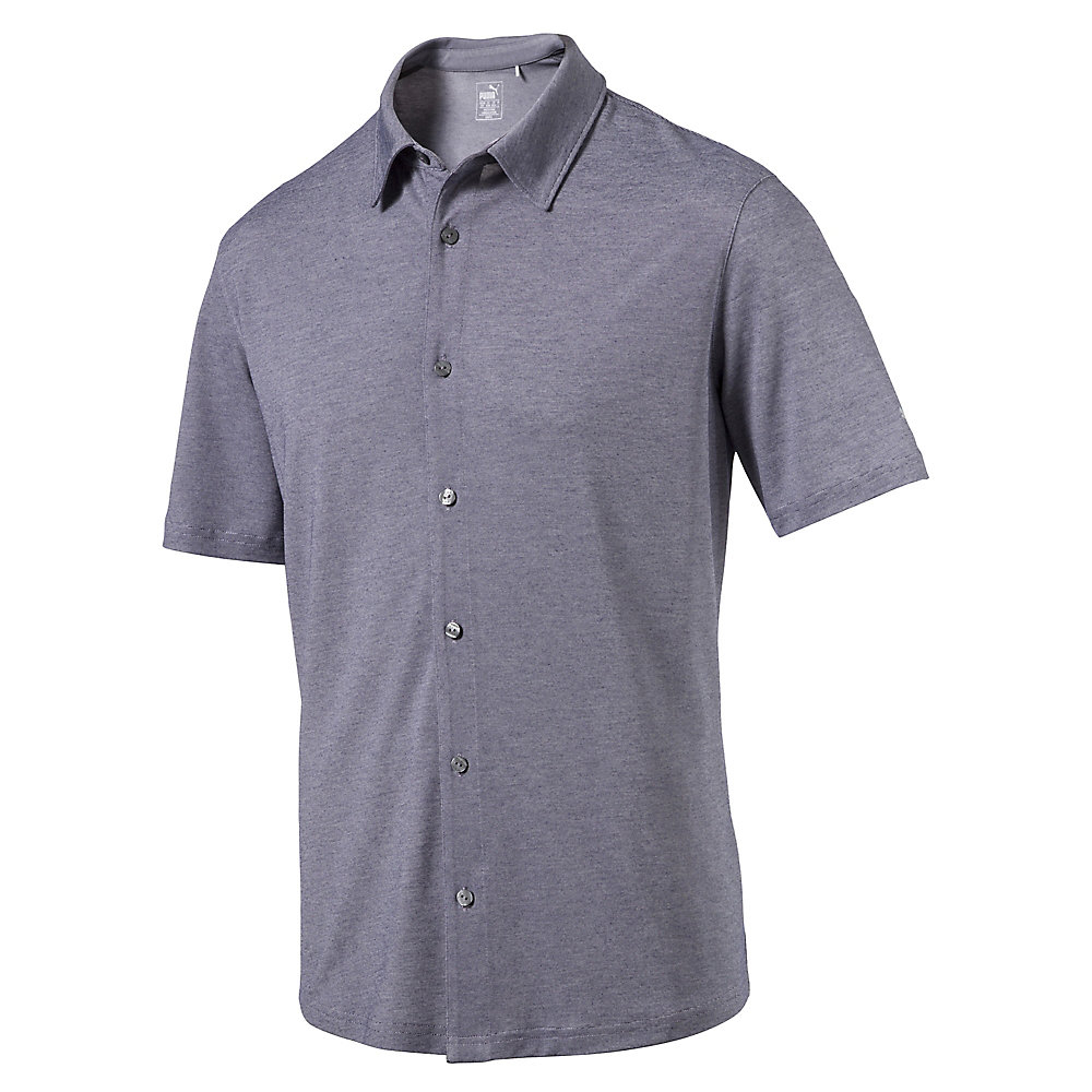 Knit golf shirt puma golf for Button down collar golf shirt