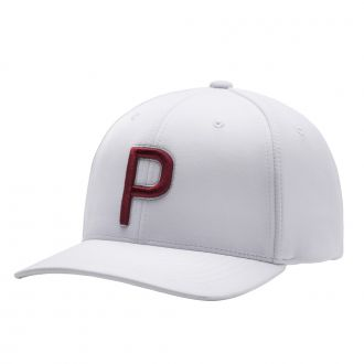 P Snapback Cap - Bright White/ Barbados Cherry