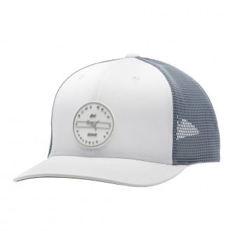 Trucker Circle Patch Snapback Golf Cap - Bright White