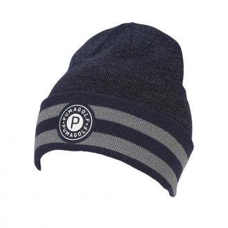 P Circle Patch Beanie - Peacoat