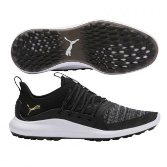 IGNITE NXT SOLELACE Golf Shoes - Puma Black / Puma Team Gold