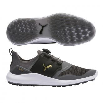 IGNITE NXT DISC Golf Shoes - Quiet Shade / Puma Team Gold / Puma Black
