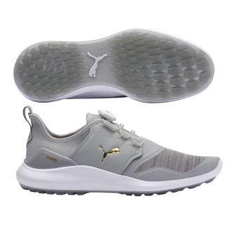 IGNITE NXT DISC Golf Shoes - High Rise / Puma Team Gold / Puma White