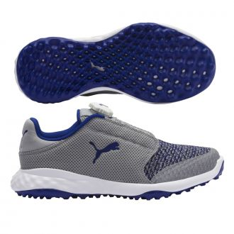 Grip Fusion Sport Junior DISC Golf Shoes - Quarry / Surf The Web