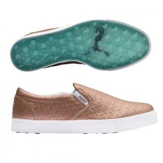 Tustin Womens Golf Shoes - Rose Gold / Puma White