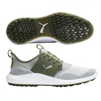 IGNITE NXT Golf Shoes - High Rise / Puma Silver / Deep Lichen Green