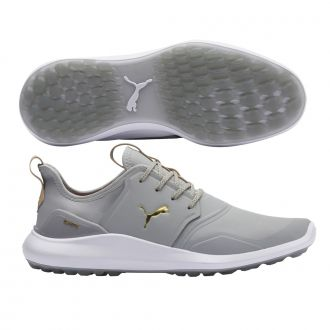 IGNITE NXT Pro Golf Shoes - High Rise / Puma Team Gold / Puma White