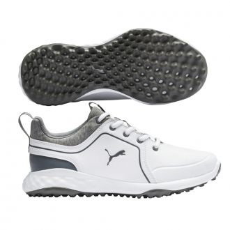 Youth Grip Fusion 2.0 Golf Shoes - Puma White / Quiet Shade