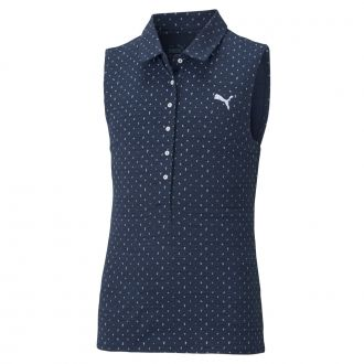 Girls CLOUDSPUN Sleeveless Polka Golf Polo