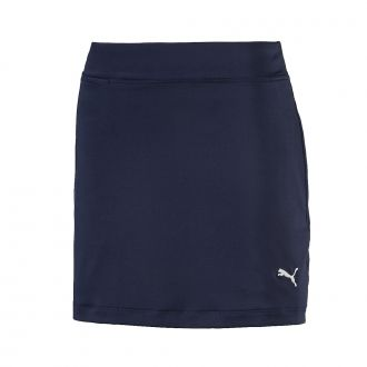 Junior Girls Solid Knit Golf Skirt - Peacoat