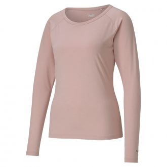 Women's Longsleeve Sun Crew Golf Shirt - Peachskin