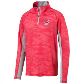 Volition Signature Golf 1/4 Zip - High Risk Red