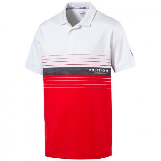 Volition Horizon Golf Polo - High Risk Red / Bright White