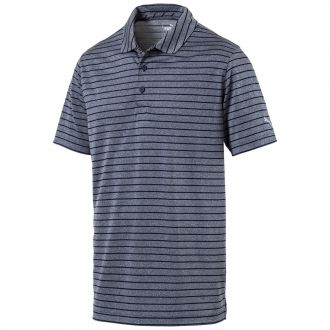 Rotation Stripe Golf Polo - Peacoat