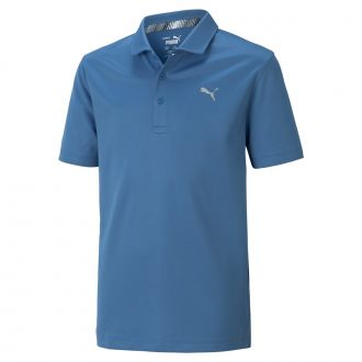 Juniors Essential Golf Polo - Vibrant Orange