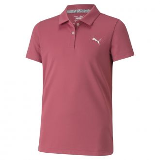 Junior Girls Essential Golf Polo - Rose Wine