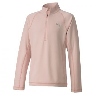 Junior Girls 1/4 Zip - Peachskin
