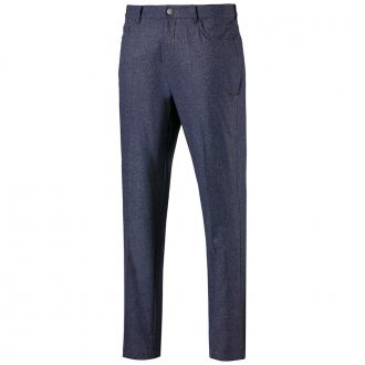 Jackpot 5 Pocket Heather Golf Pants - Peacoat