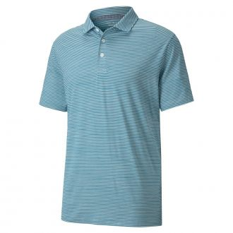 Caddie Stripe Golf Polo - Digi Blue