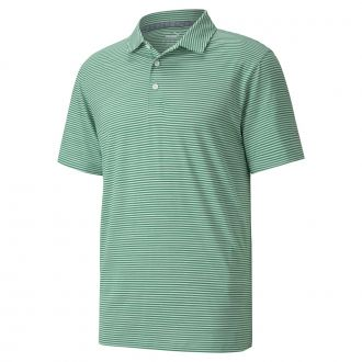 Caddie Stripe Golf Polo - Amazon Green
