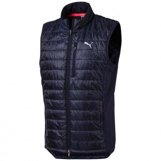 Quilted Primaloft Golf Vest - Peacoat