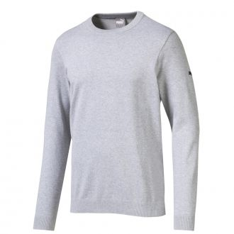 Essential Crew Golf Sweater - Quarry