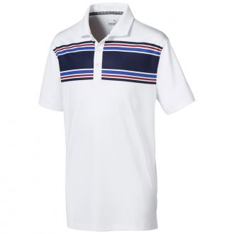 Juniors Montauk Golf Polo - Bright White / Peacoat