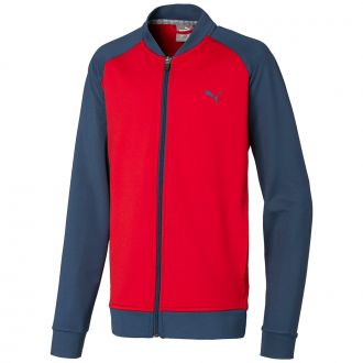 Juniors Full Zip Golf Jacket - Barbados Cherry