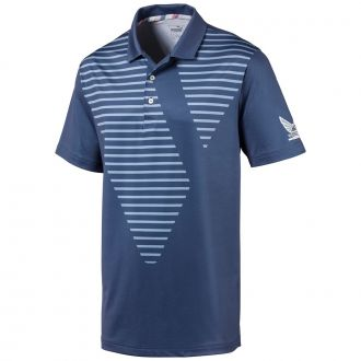 Volition Sky Golf Polo - Vintage Indigo