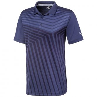 ALTERKNIT Reflection Golf Polo - Peacoat