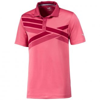 ALTERKNIT Texture Golf Polo - Rapture Rose