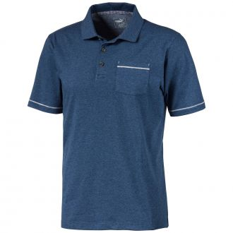 Slub Golf Polo - Dark Denim Heather