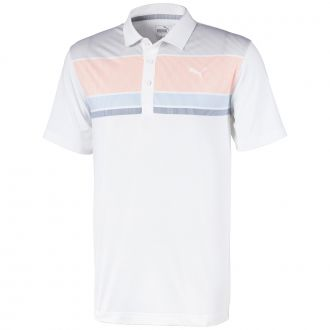 Road Map Golf Polo - Cantaloupe/ Blue Bell