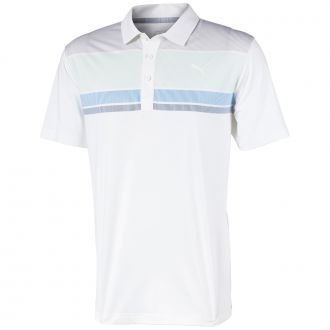 Road Map Golf Polo - Mist Green/ Blue Bell