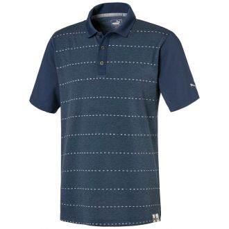 Fusion Dot Golf Polo - Dark Denim