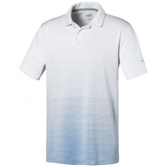 Ombre Golf Polo - Blue Bell Heather
