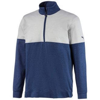 Warm Up Golf 1/4 Zip - Peacoat/ Bright White