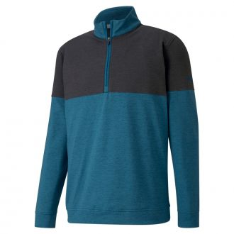 Warm Up Golf 1/4 Zip - Digi Blue