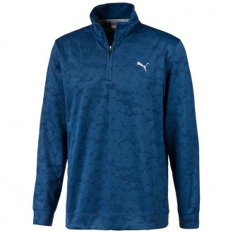 ALTERKNIT Digi Camo Golf 1/4 Zip - Dark Denim