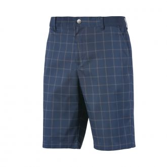 Plaid Golf Shorts - Dark Denim