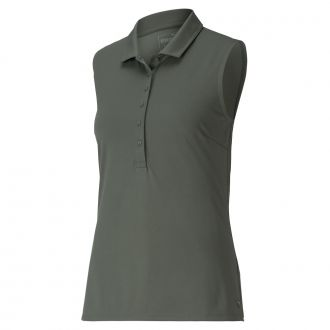 Women's Rotation Sleeveless Golf Polo - Thyme