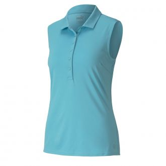 Women's Rotation Sleeveless Golf Polo - Milky Blue