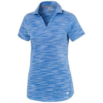 Women's Heather Slub Golf Polo - Palace Blue Heather