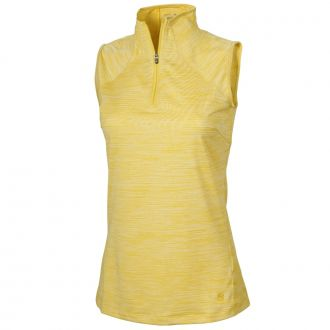 Women's Daily Golf Mockneck - Super Lemon