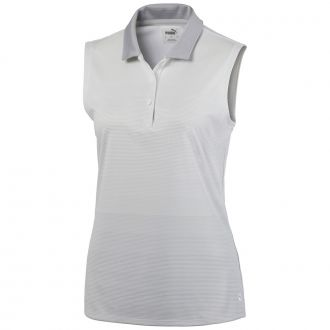 Women's Ombre Sleeveless Golf Polo - Bright White