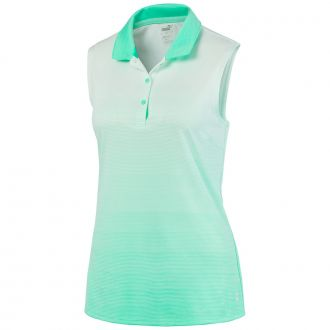 Women's Ombre Sleeveless Golf Polo - Green Glimme