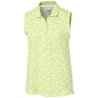 Women's Flight Sleeveless Golf Polo - Sunny Lime