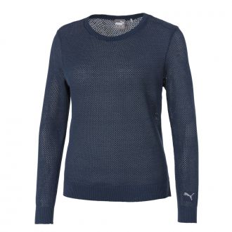 Women's Golf Sweater - Dark Denim