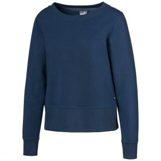 Women's Crewneck Zip Fleece - Dark Denim